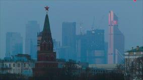 Mening van Moskou stock videobeelden
