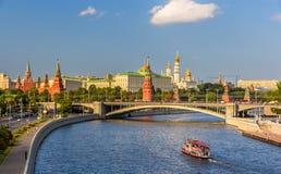 Mening van Moskou het Kremlin Royalty-vrije Stock Afbeeldingen