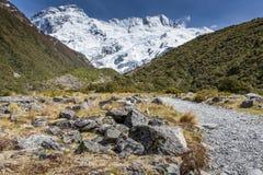 Mening van MT Cook National Park, Nieuw Zeeland Stock Foto