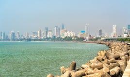 Mening van Mumbai van Marine Drive India stock fotografie
