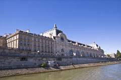 Mening van Musée Orsay. Parijs stock foto's