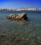 Mening van Mykonos, Griekenland Royalty-vrije Stock Foto's