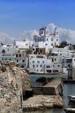 Mening van Naoussa - Paros Royalty-vrije Stock Foto