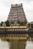 Mening van Nataraja-tempel, Chidambaram, India Royalty-vrije Stock Foto