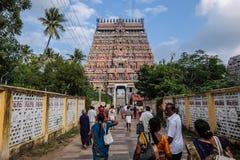 Mening van Nataraja-tempel, Chidambaram, India Stock Fotografie