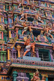 Mening van Nataraja-tempel, Chidambaram, India Royalty-vrije Stock Afbeelding