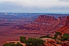 Mening van Nationaal Park Canyonlands Stock Afbeeldingen