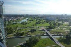 Mening van Nationale bibliotheek in Minsk Royalty-vrije Stock Fotografie