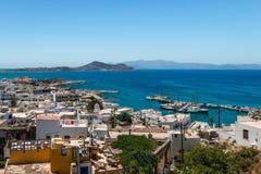 Mening van Naxos, van hierboven royalty-vrije stock foto's