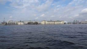 Mening van Neva aan plechtig St. Petersburg stock footage