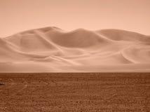 Mening van Nevada Desert in sepia toon Stock Foto's
