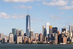 Mening van New York de stad in royalty-vrije stock afbeeldingen