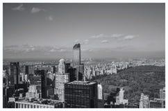 Mening van New York met inbegrip van Central Park Royalty-vrije Stock Foto