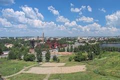 Mening van Nizhny Tagil van de helling van Lisya-Heuvel, Rusland Royalty-vrije Stock Afbeelding