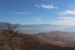 Mening van Oaxaca van Monte Alban royalty-vrije stock foto's