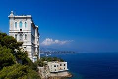 Mening van Oceanografisch Museum van Monaco. Stock Foto's