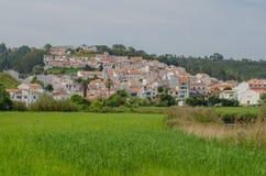 Mening van Odeceixe-dorp in Aljezur, Portugal Stock Afbeeldingen