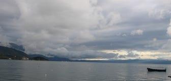 Mening van Ohrid-meer Stock Afbeelding