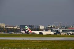 Mening van Okecie-Luchthaven in Warshau Royalty-vrije Stock Fotografie