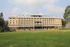 Mening van Onafhankelijkheidspaleis in Ho Chi Minh Stock Foto's