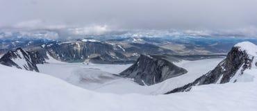 Mening van Onderstel Glitterthind aan Grasubreen-Gletsjer, Noorwegen Stock Fotografie