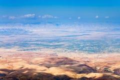 Mening van Onderstel Nebo in Jordanië Stock Afbeelding