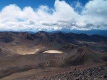 Mening van Onderstel Ngauruhoe om Ruapehu op te zetten Royalty-vrije Stock Afbeelding