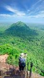 Mening van onderstel Sigiriya (Ceylon) Royalty-vrije Stock Afbeelding