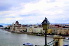 Mening van Ongedierte van Buda-kasteel Stock Foto's