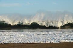 Mening van onweerszeegezicht Stock Foto's