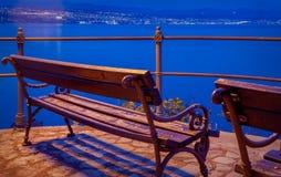 Mening van Opatija aan Rijeka over het overzees Stock Fotografie
