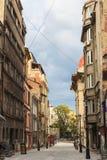 Mening van oud historisch centrum Lipscani Royalty-vrije Stock Foto