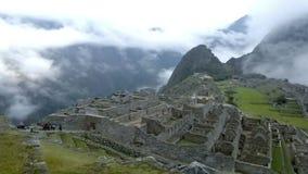 Mening van oud Inca City van Machu Picchu De plaats van de 15de eeuwinca 'Verloren stad van Incas' stock footage