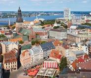 Mening van Oud Riga, Letland Stock Afbeeldingen