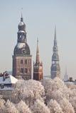 Mening van Oud Riga, Letland Royalty-vrije Stock Foto