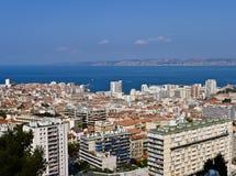 Mening van Oude Haven van Marseille, Frankrijk Stock Foto's