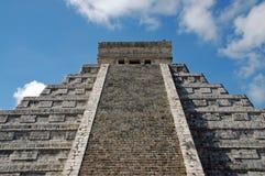Mening van Oude Mayan Piramide Royalty-vrije Stock Fotografie