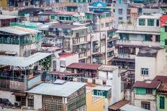 Mening van oude stad in Macao, Azië Royalty-vrije Stock Foto