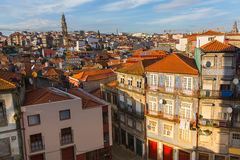 Mening van oude stad Porto, Portugal Reis Royalty-vrije Stock Foto's