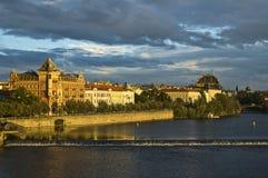 Mening van oude stad Praag - czek republiek Royalty-vrije Stock Afbeeldingen