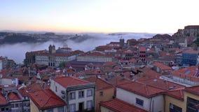 Mening van oude stad van Porto, Portugal stock footage