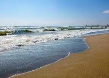 Mening van overzees strand Royalty-vrije Stock Foto