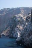 Mening van overzees van Alanya Castle Rock stock afbeeldingen