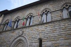 Mening van Palazzo Comunale stock afbeeldingen