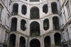 Mening van Palazzo Sanfelice royalty-vrije stock afbeelding