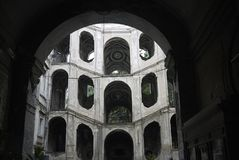 Mening van Palazzo Sanfelice royalty-vrije stock afbeeldingen