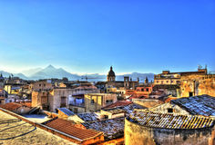 Mening van Palermo in HDR Stock Afbeeldingen