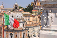 Mening van panorama Rome, Italië Royalty-vrije Stock Fotografie