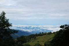 Mening van Paramo, Costa Rica stock fotografie