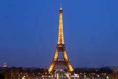 Mening van Parijs en de Toren Eiffel op 3 Mei, 2013 in Parijs.  Royalty-vrije Stock Foto's